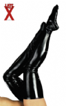 Coprigambe nero in latex